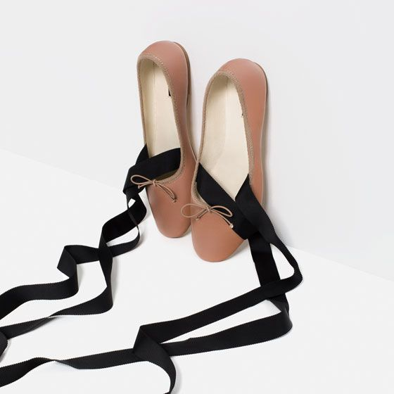 Red Lace Ballerina Shoes Tied