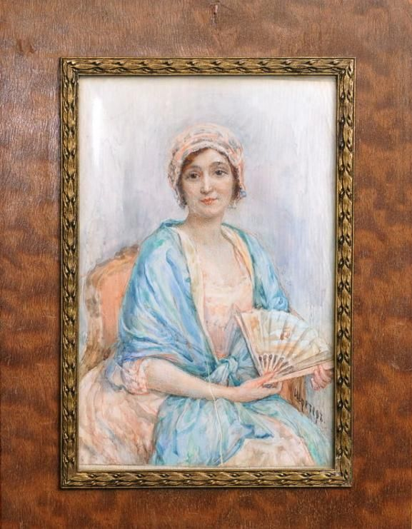 Шретер Мария Викторовна,  Maria Viktorovna Shreter (Russian, 1870-1924) - Portrait M-me Rompe ???