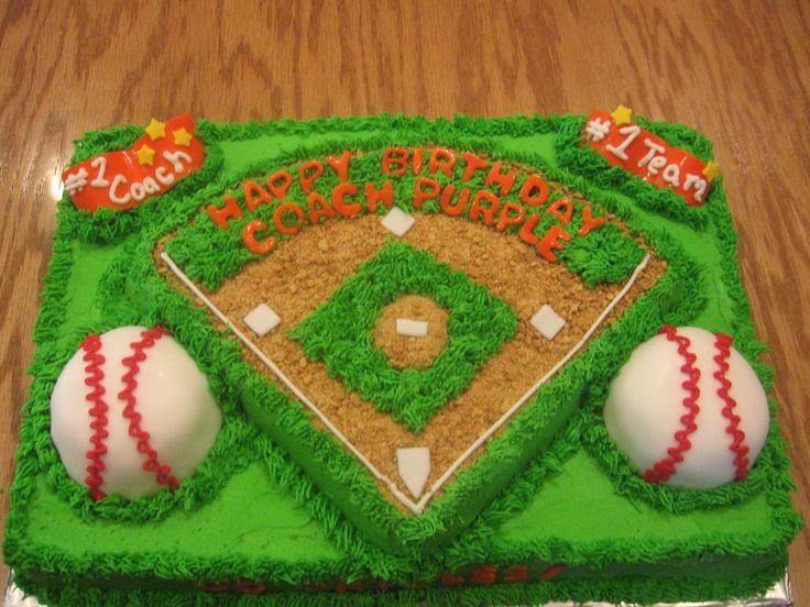 Baseball Field Birthday Cake cakepins.com