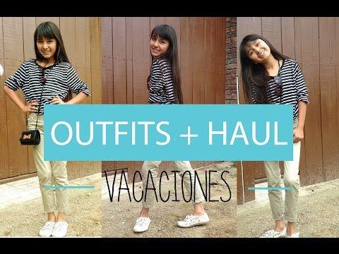 Outfits/Haul de vacaciones + SORTEO!!! ♡ - YouTube