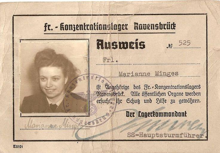 Ausweies Ravensbruck Mariane Mingis