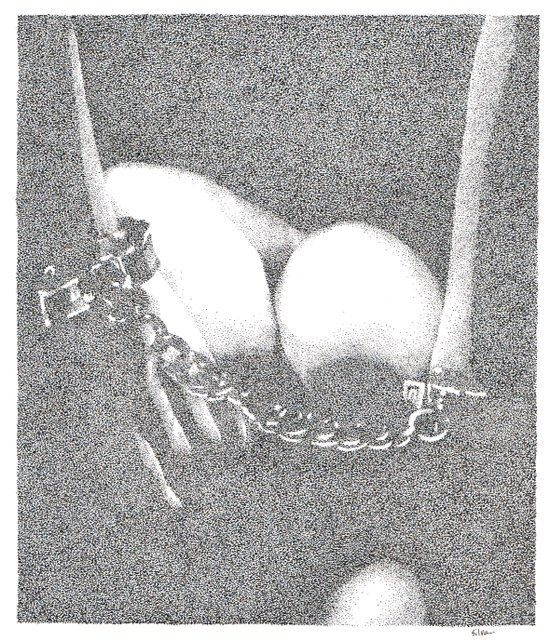 Chained - www.sereninspired.com - pointillism