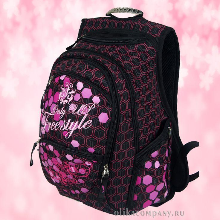 Рюкзак 13359 принт соты, размеры 26*18*38 см 2000 руб #сумки #рюкзак #учеба #школа