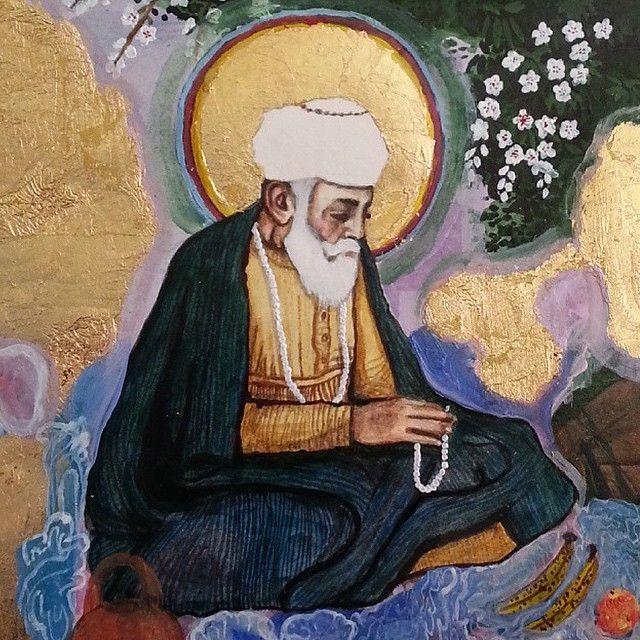 Sikh art Have you seen this beautiful Guru Nanak Dev Ji artwork... #sikhblog #feedly