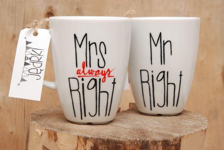 Kubek+MR.RIGHT+&+MRS.+(ALWAYS)+RIGHT+w+Jędrki+na+DaWanda.com
