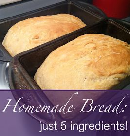 Homemade bread five ingredients, no sugar just honey! Definitely trying this sometime this week!!!