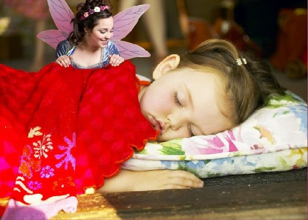 The Tooth Fairy visiting a child while they sleep ♥  Fun for kids!  Have your child join The Tooth Fairy Club!  www.ToothFairyClub.info :D