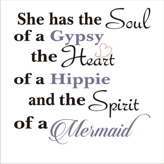 She has the SOUL of a Gypsy Mermaid Sign by SuperiorStencils