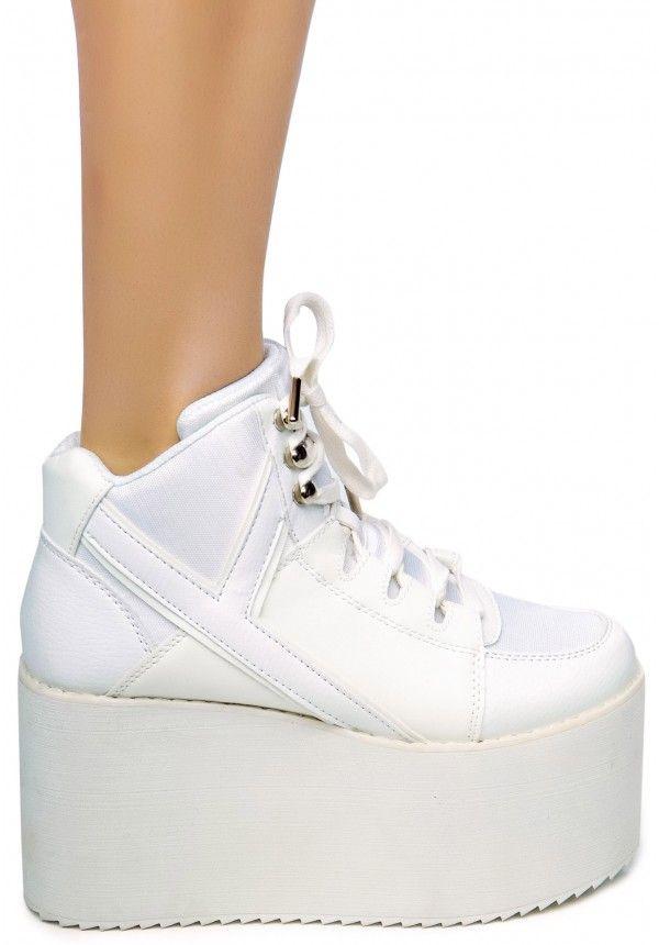 yru qosmo hi white mega platform shoes wishlist