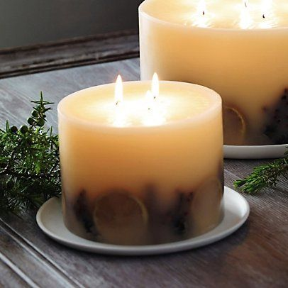 Winter Botanical Candle - Large | Christmas | The White Company
