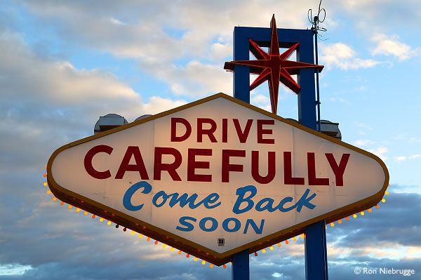 Leaving Las Vegas Sign, Las Vegas Strip, Nevada