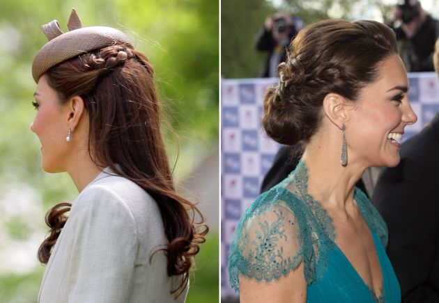 Plaity Katie? Kate Middleton is Super-Into Braids Right Now | Blogs | Vanity Fair  I love the one on the left!
