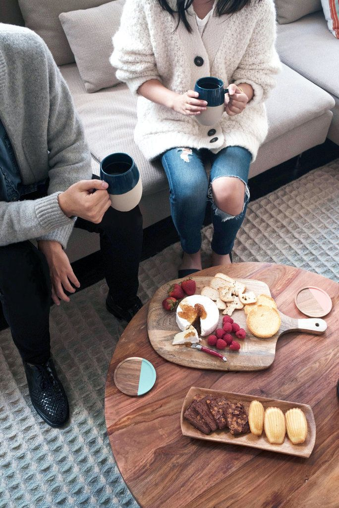 Put a spin on your next brunch or afternoon gathering and host a coffee party. It's a unique twist on a traditional wine tasting that lets guests sip different roasts and blends. Pair with sweet and savory snacks and you're ready to go!