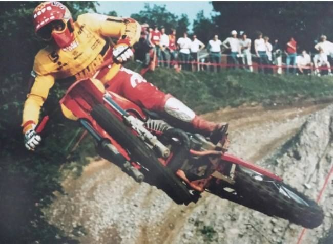 1984- Maico in flight