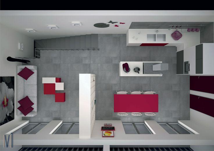 3D house  #13seven #interiordesign #homedesign #arredamentointerni #interiordecoration #furniture #homedecoration #lovedesign #furniturehome #lovekitchen #lovecolor #colordesign #redkitchen #cucinamoderna #cucina #cucinacolorata