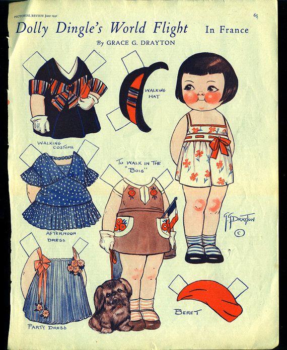 1932 Dolly Dingle paper doll by Grace Drayton