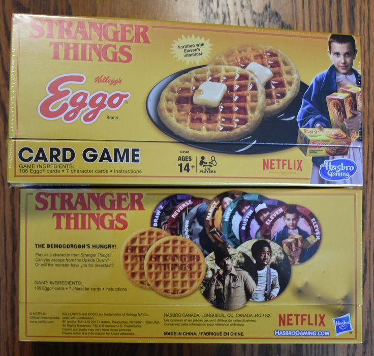 Stranger Things Eggo card game netflix eleven 11 millile bobby brown