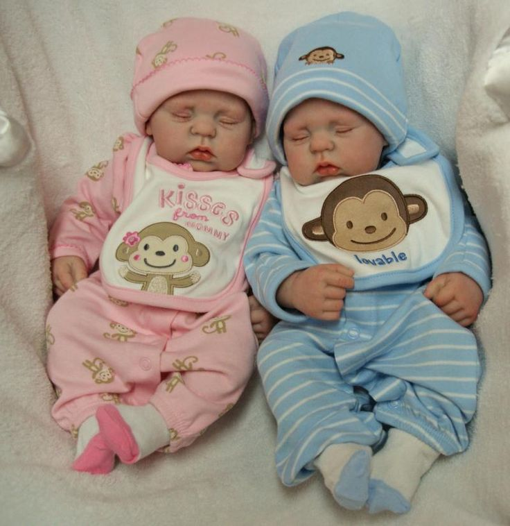 Twin full sculpted baby dolls