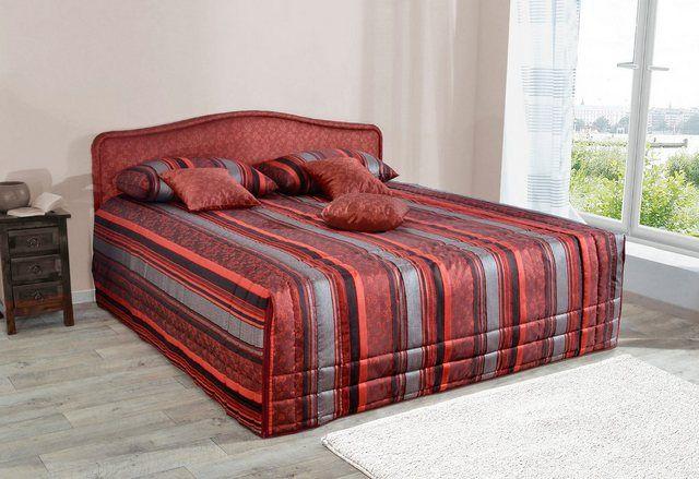 Polsterbett, wahlweise mit Tagesdecke und Bettkast…