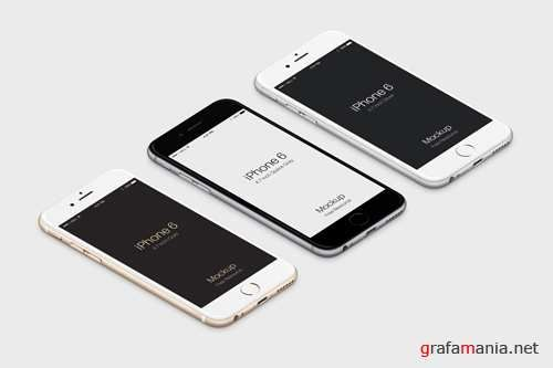 3d Iphone 6 Isometric View Mockup Psd Free Iphone 6 Iphone Mockup Iphone Mockup Psd