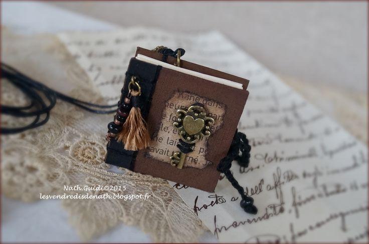 Mini carnet bijou ... http://lesvendredisdenath.blogspot.fr/