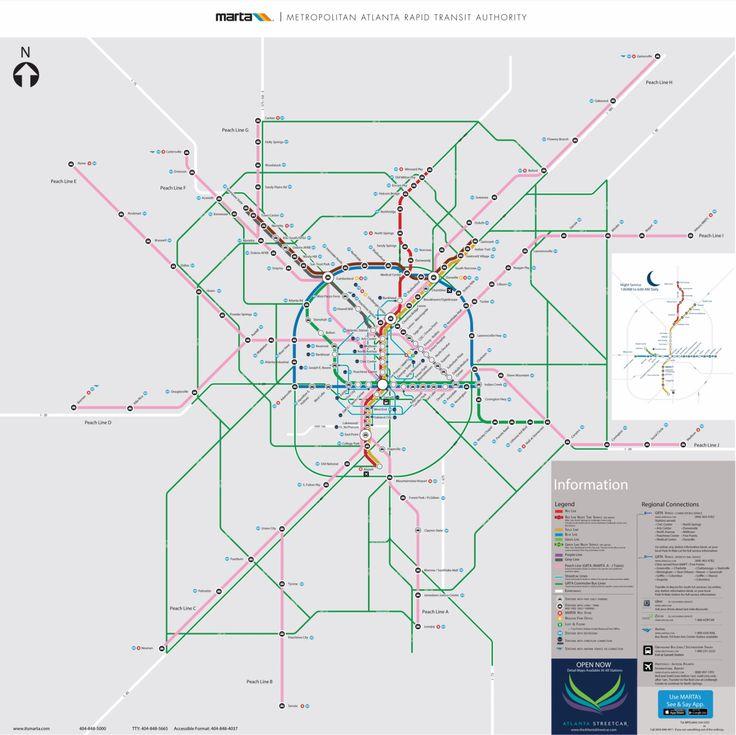 Beautiful Volunteer Atlanta Ideas On Pinterest Atlanta Map - Atlanta to montgomery rail on map of us