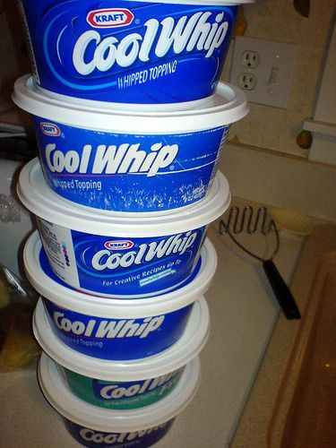 4 ounce box instant vanilla pudding mix, dry - 1/4 cup powdered sugar, sifted - 1 cup milk - 8 ounces Cool Whip // mix together first 3 ingredients, let stand for 3 min. & fold in cool whip.