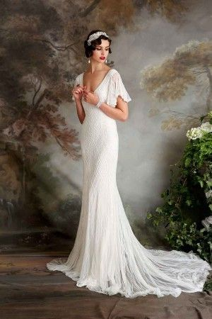 Georgina - such a beautiful wedding dress. So glamorous, especially with the red lip.