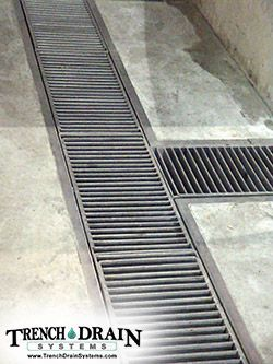 Trench Drain Systems Stainless Steel Grating Trench