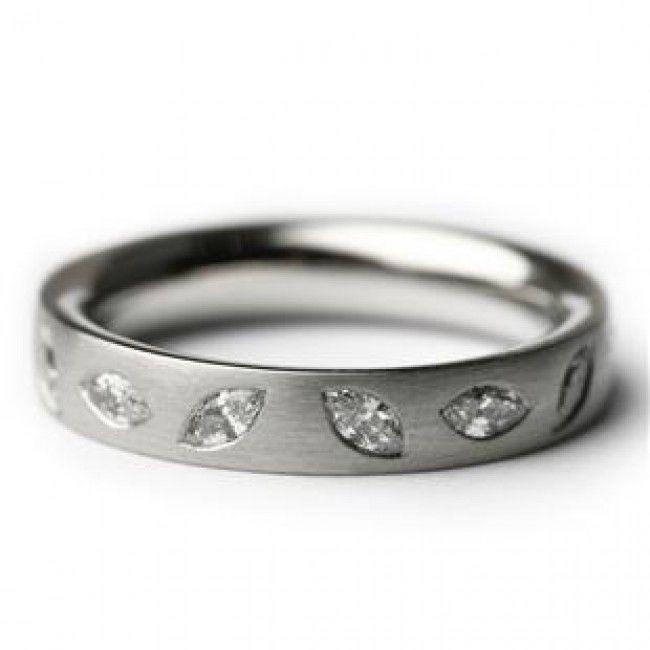 Paul Spurgeon Platinum 14 Marquis Diamond Ring - DesignYard
