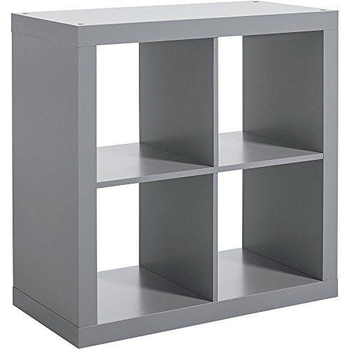 Better Homes Gardens Versatile Square 4 Cube Storage Organizer Gray Cube Storage Cube Organizer Storage Bins