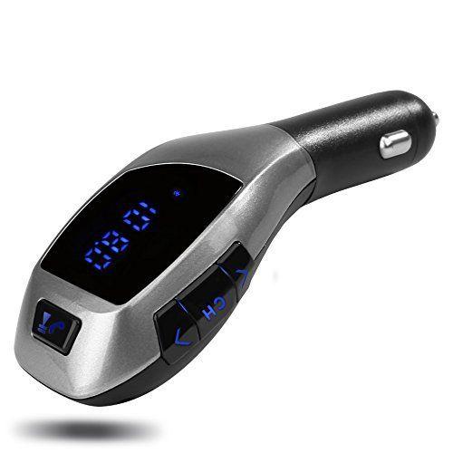 Transmetteur FM, Yokkao® Kit de Voiture Bluetooth Lecteur MP3 Appel Mains Libres avec USB Chargeur Allume-cigare Haut-parleur USB Clé et…