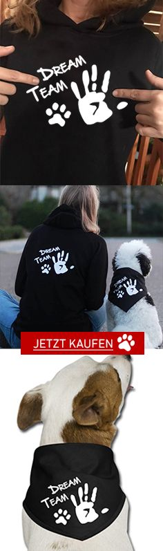 DREAM TEAM Jacke und Hunde Bandana kaufen