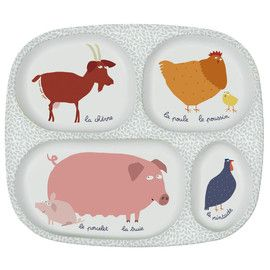 Petit Jour Farm Plate  Distributed by Kaleidoscope