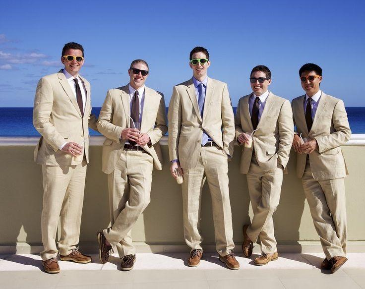 mariage sur la plage costume homme idée pour les garçons d'honneur