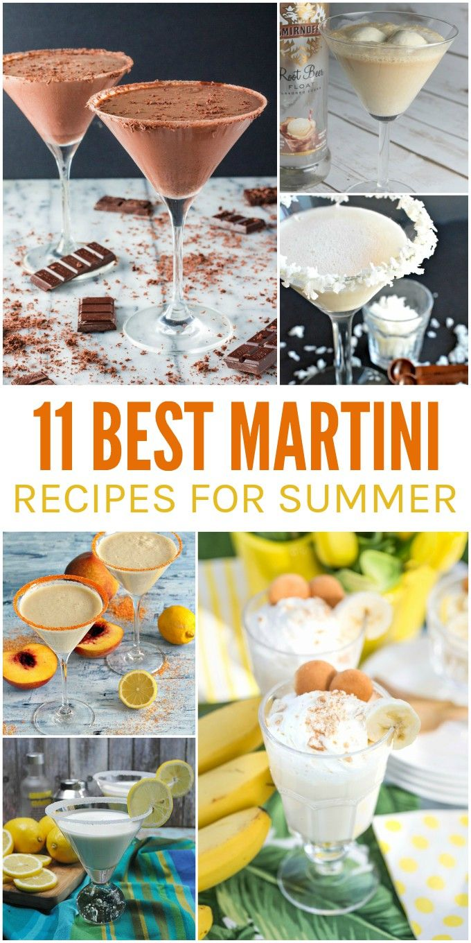 11 Best Martini Recipes for Summer - yummy summer martinis to cool you off when the weather heats up