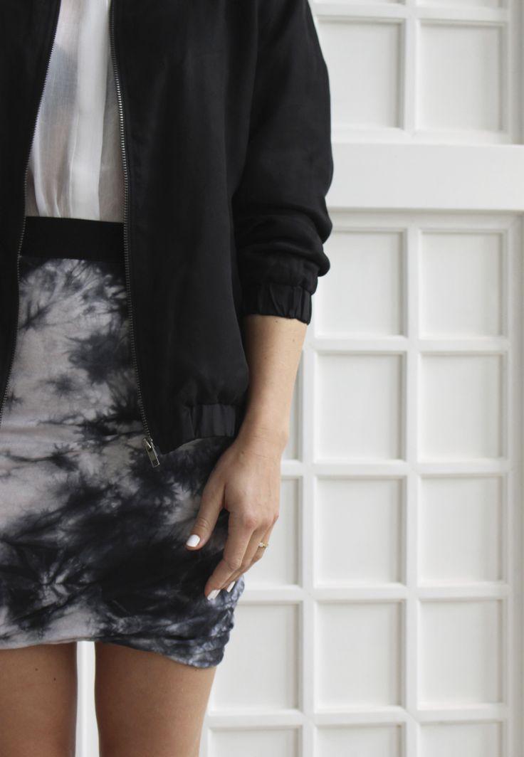 Pop CPH bomber jacket / Modstrom tie-dye skirt   Welovestijl.com