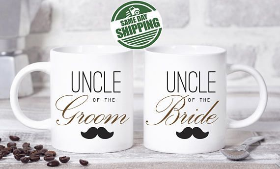 uncle mug, mug for uncle, wedding mugs, new uncle mug, uncle of bride mug, wedding party mug, best uncle ever mug, aunt and uncle mug, custom wedding mug, fathers day mug, mug present, mug for aunt, best uncle mug  This cute design will be printed on best quality Grade A fully white Mugs or Mugs with black handle. If you prefer, we can print design on one side and special message on the other side. Kindly specify in order notes. We use dye sublimation and heat transfer technique to print the…