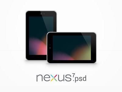 Nexus 7 mockup (Free PSD)