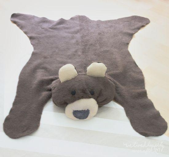 Tapete urso decora com muito charme qualquer espaço (Foto: welivedhappilyeverafter.com)