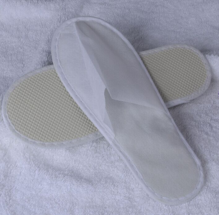 Free Shipping 20pairs/lot White Non-Woven Disposable Slipper Hotel Supplies Wholesale