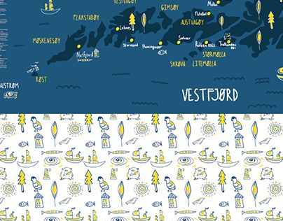 "Check out new work on my @Behance portfolio: ""Lofiten islands map"" http://on.be.net/1OqbOTx"