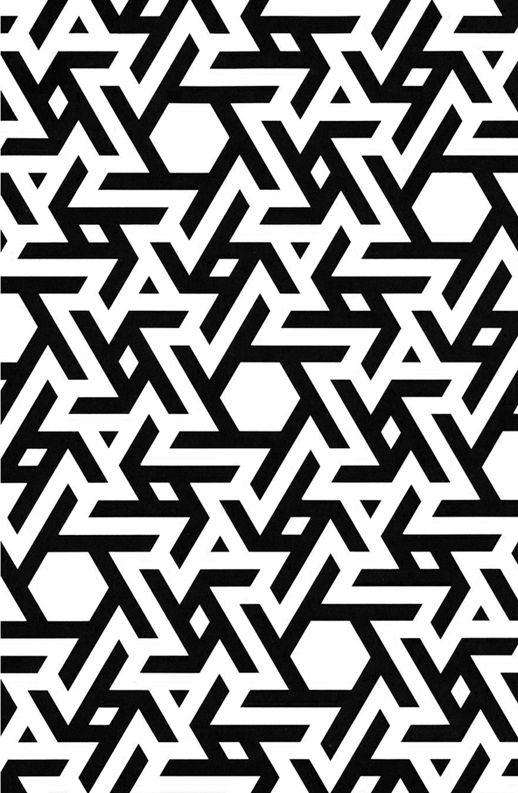 Geometry Pattern Design - Black & White