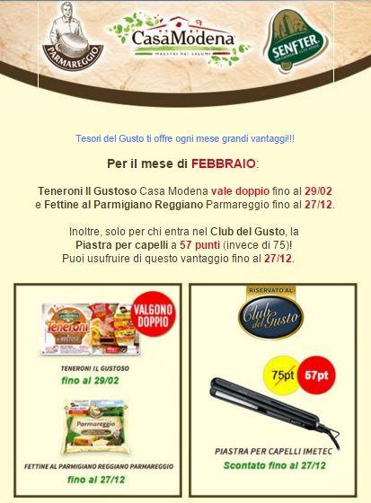 Tesori del Gusto: vantaggi di febbraio 2016 - continua la #raccoltapunti Casa Modena, Parmareggio e Senfter