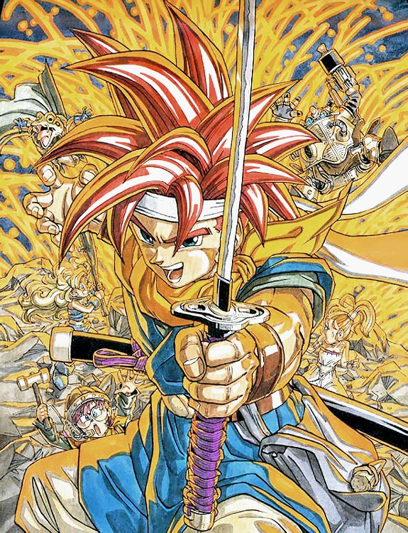 Chrono Trigger original artwork (Super Famicom, 1995).