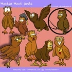 Owl Teacher Clipart by Thomas BarnettFile includes 8 unique custom drawn owl themed clipart images by Thomas Barnett. Each image includes a PNG v...