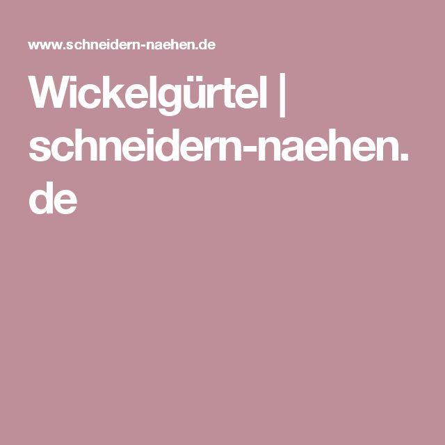 Wickelgürtel | schneidern-naehen.de