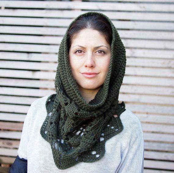Crochet PATTERN leaves snood cowl women neckwarmer by Accessorise