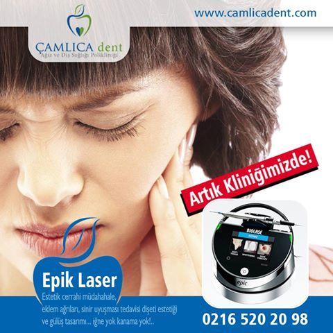Artık Çamlıca Dent'de ! Estetik cerrahi müdahahaleler başta olmak üzere diş hekimliğinde pek çok işte kullanılan bir lazer cihazıdır. Eklem ağrılarında, sinir uyuşmasının tedavisinde, dişeti estetiğinde ve gülüş tasarımında kullanılmaktadır.  www.camlicadent.com - 0216 520 20 98