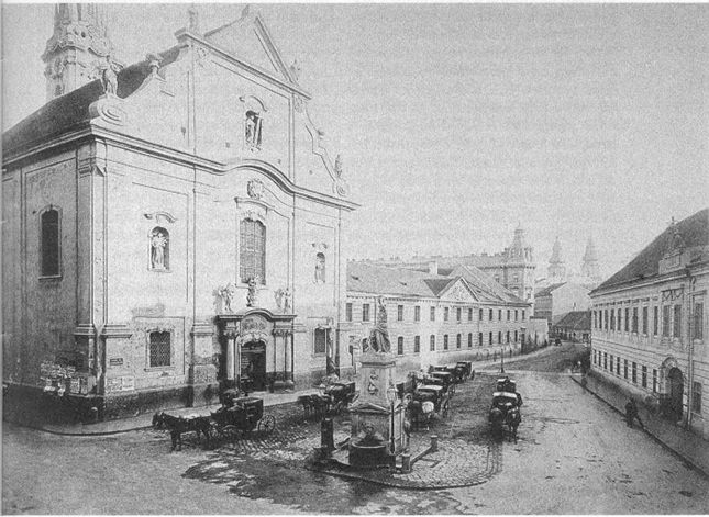 Ferenciek Square (Square of the Franciscans) 1897, Budapest